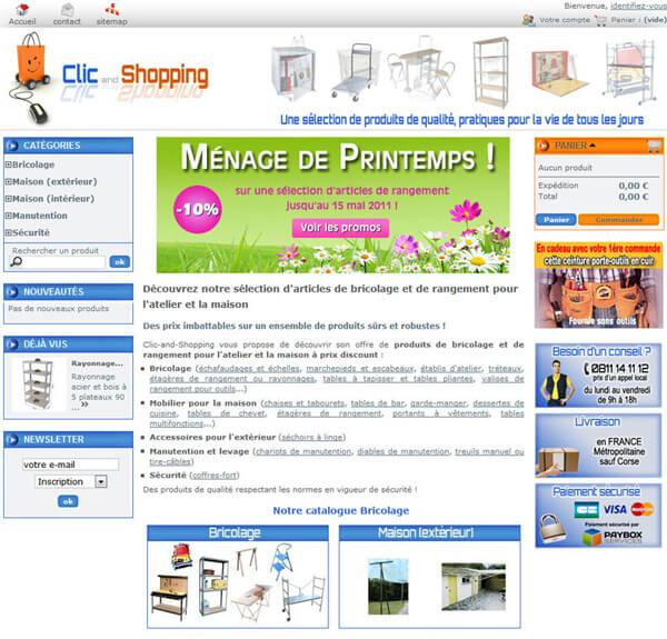 site ecommerce maison bricolage commerce clic and shopping evreux