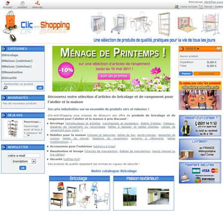 Site e-commerce Clic-and-Shopping - Evreux