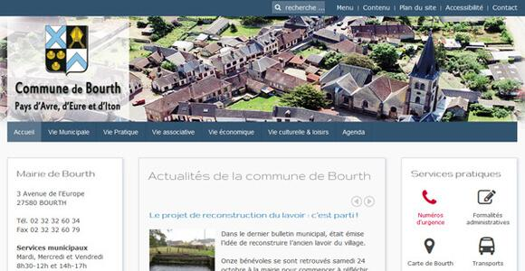 site institutionnel collectivité mairie de Bourth