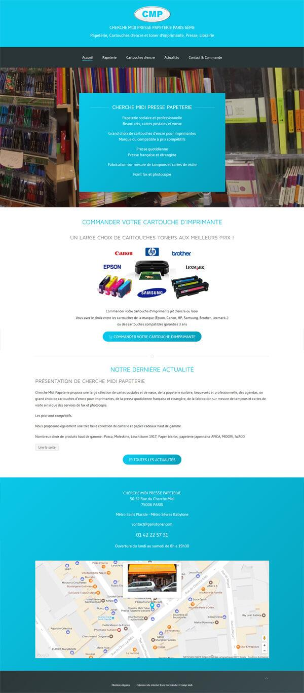 site internet commerce paris toner