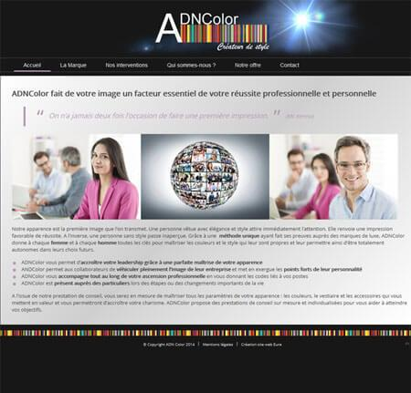 Site internet AdnColor - Eure