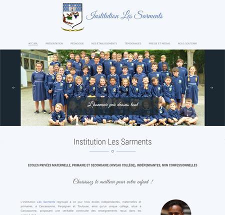 Création site internet Vitrine - Enseignement Formation - Les Sarments à  Carcassonne Perpignan et Toulouse de6ef904497a