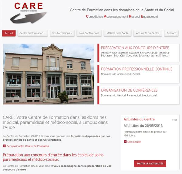 site web formation infirmiers sante enseignement care limoux