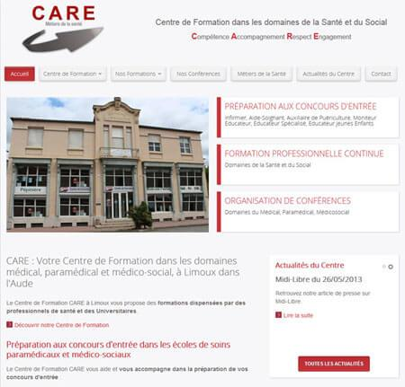 Site internet Vitrine CARE - Limoux