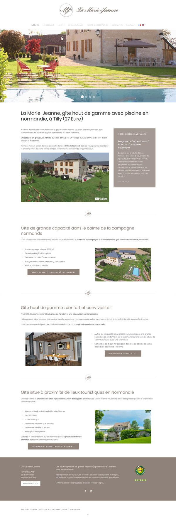 site web gite tourisme hotellerie marie jeanne vernon giverny