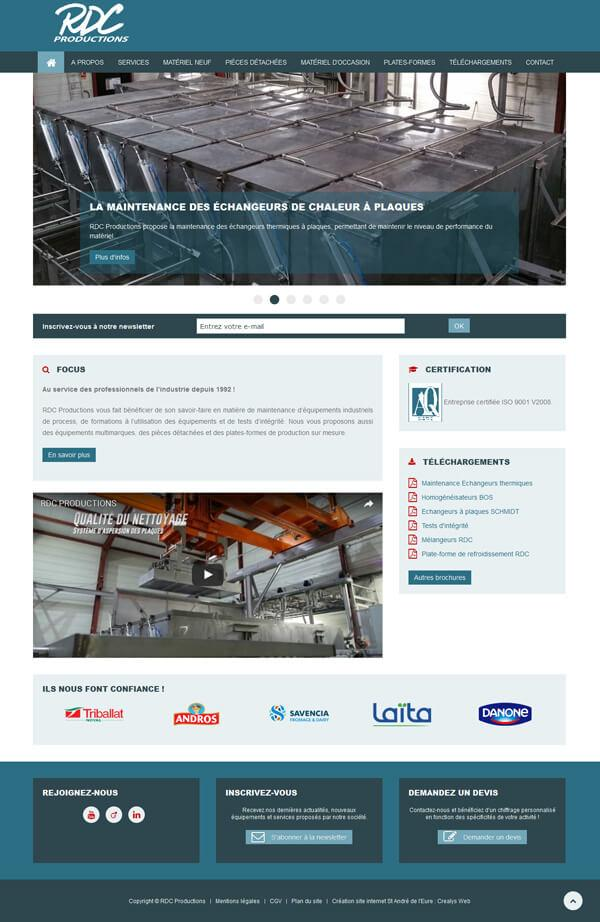 site internet industriel - RDC Productions