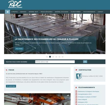 Création site internet Vitrine - Industrie agroalimentaire, pharmacie et  chimie - RDC Productions à St 3e76de7719f9