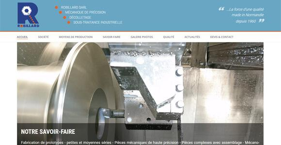 site internet industriel - Robillard