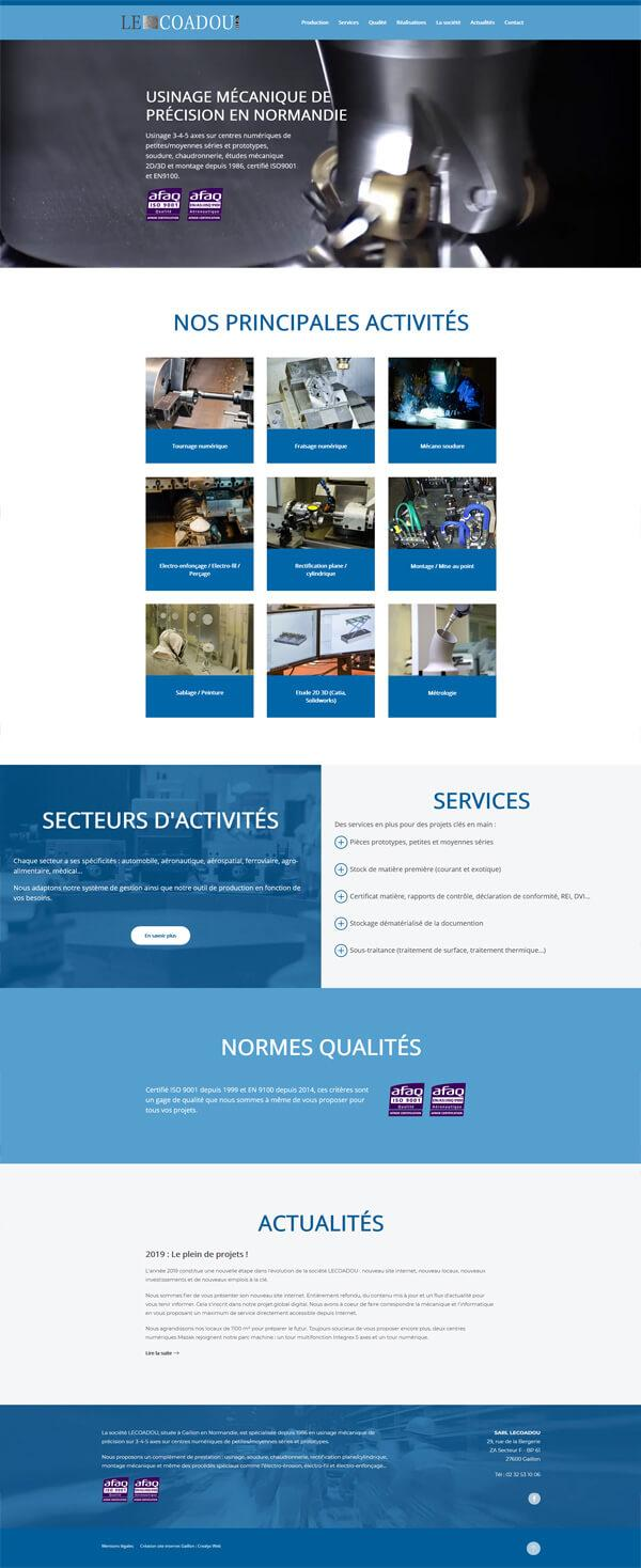 site internet industriel - Lecoadou