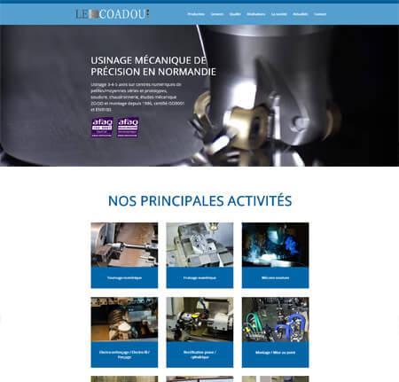 Création site internet Vitrine - Industrie Mécanique - Lecoadou à Gaillon fc790afa3f26