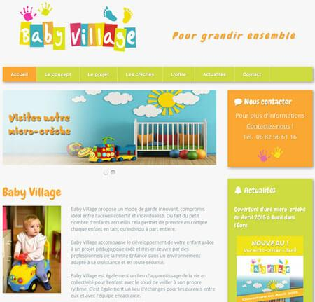 Site internet Baby-Village - Bueil